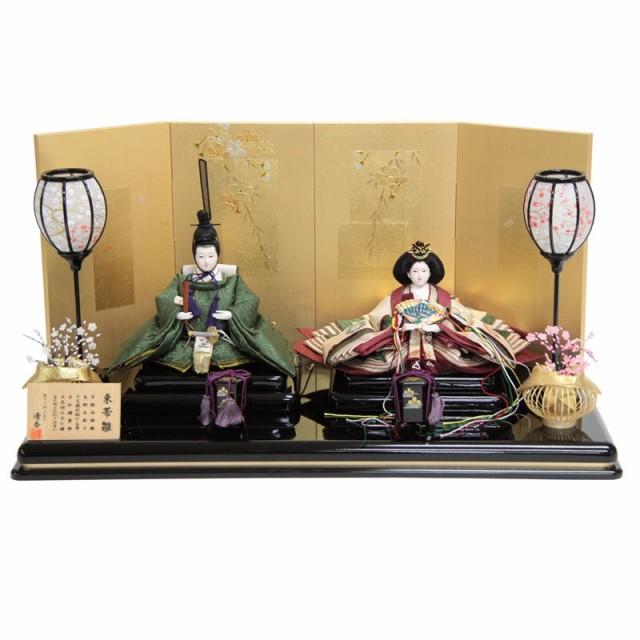 雛人形 親王平飾り【束帯雛】 西陣織正絹[幅60cm]...