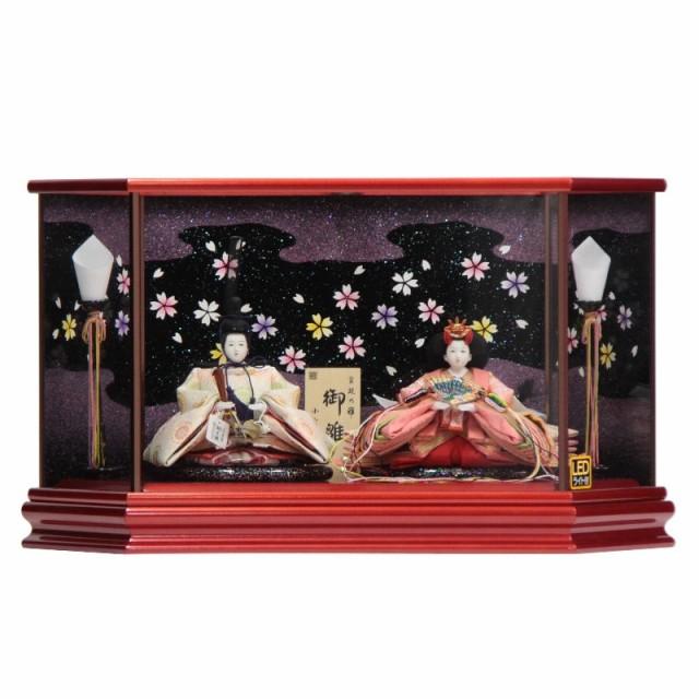 雛人形 親王ケース入り【高雄】京十二番 [幅57cm]...
