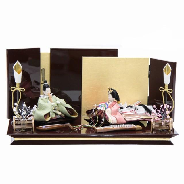 雛人形 親王平飾り 絵巻 裾長 緑 hn143 hs1475 月...