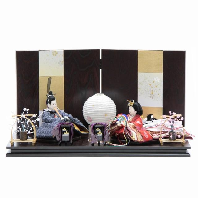雛人形 親王平飾り 絵巻 裾長 有職 hn144 hs1485 ...