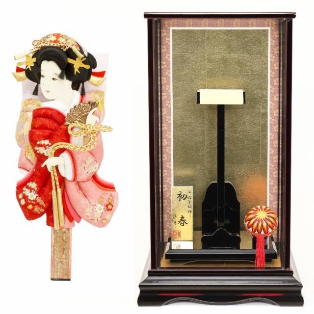 羽子板 ケース入り 刺繍振袖 道成寺 初春 ケース ...