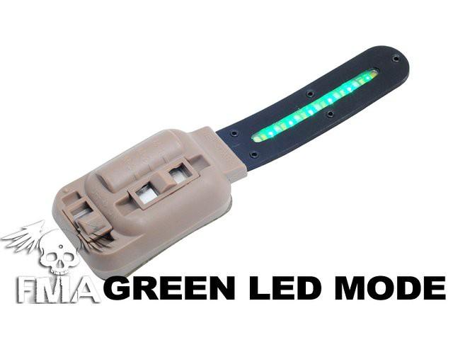 FMA HEL-STAR 5 ヘルメット用LEDライト GREEN/DE