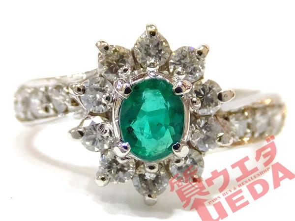 【JEWELRY】リング 指輪 8号 Pt900 プラチナ エメ...