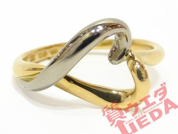 【4℃】ヨンドシー リング K18YG WG ハート 指輪 ...