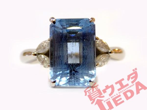 【JEWERLY】リング 指輪 アクアマリン 3.24ct ダ...