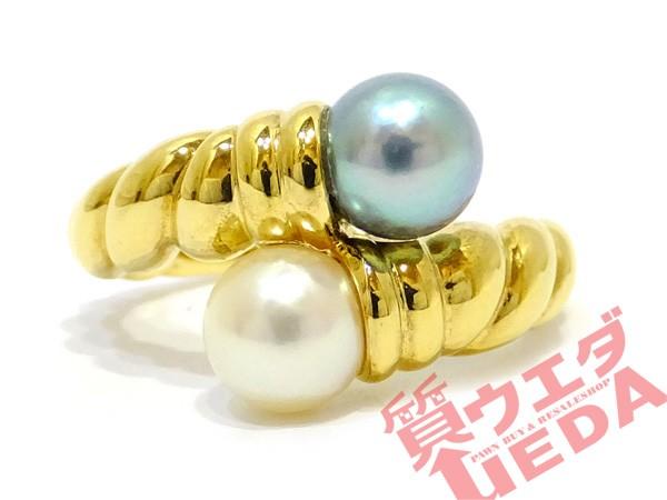 【TASAKI】タサキ リング パール 真珠 6mm玉 K18 ...