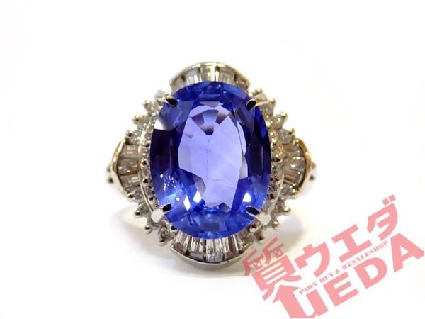 【JEWELRY】指輪 リング サファイア 3.77ct ダイ...