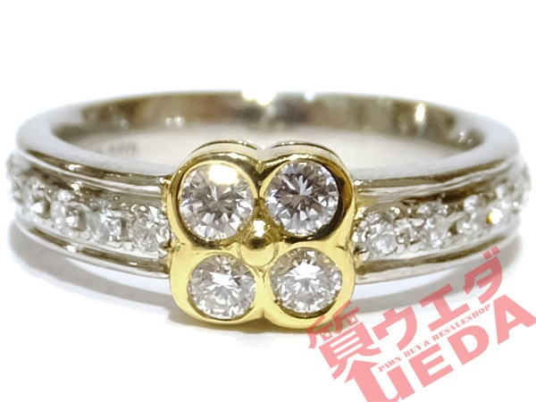 【JEWELRY】リング 指輪 Pt900 プラチナ K18 YG ...
