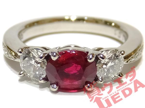【JEWELRY】リング 指輪 Pt900 プラチナ ルビー 0...