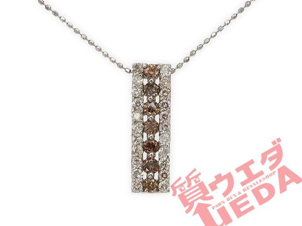 【JEWELRY】ネックレス ダイヤ 0.67ct K18WG ホワ...