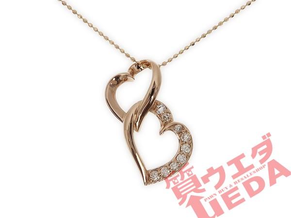 【JEWELRY】ネックレス ハート ダイヤ 0.25ct K18...