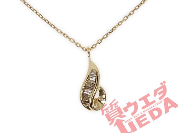 【JEWELRY】ネックレス テーパーダイヤ 0.15ct K1...