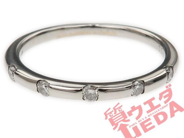 【JEWELRY】リング ダイヤ 0.10ct K18WG ホワイト...