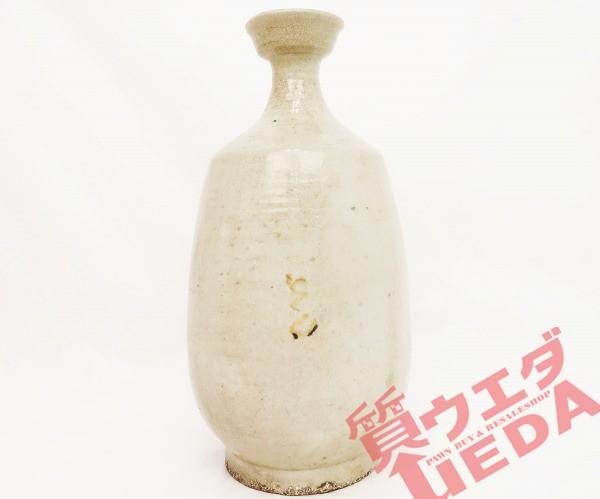 【花瓶】古瀬陶 花器 クリーム色 奈良 昭和48年 ...