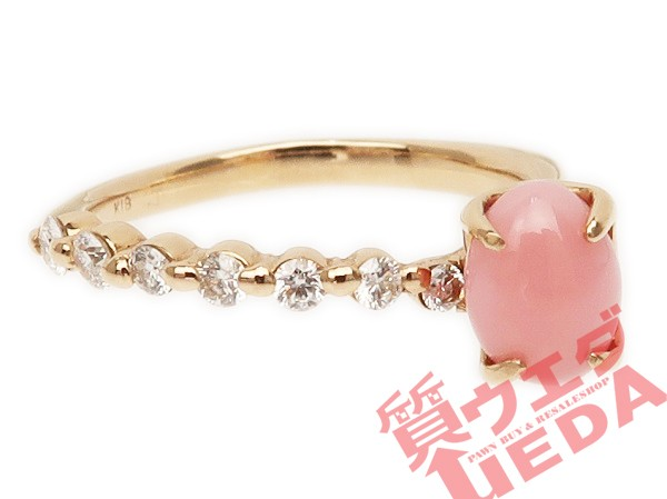 【JEWELRY】リング コンクパール ピンク 真珠 ダ...