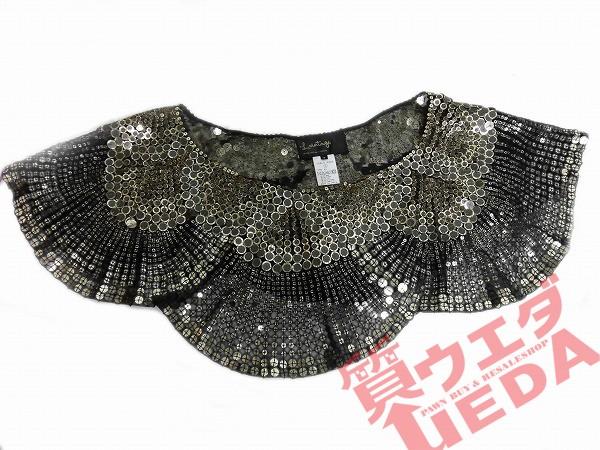 【L.VINTAGE】スパンコール ショートポンチョ 黒 ...