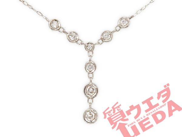 【名東】【JEWELRY】ネックレス ダイヤ 8P Pt900 ...