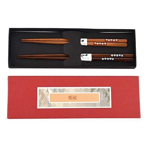Gancon 2pair /セット洗える耐久性のある木製の箸...