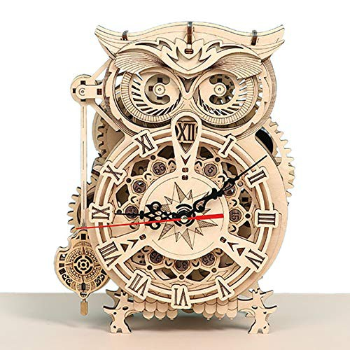 VANESSASA3D立体パズル 振り子時計 組み立て 木製...