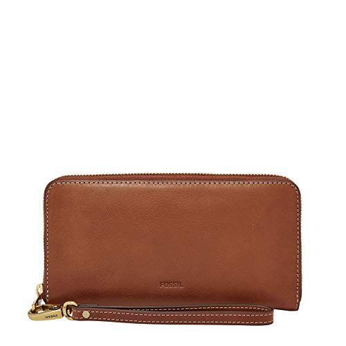 フォッシルFossil Emma Large Zip  Clutch,Brown,...