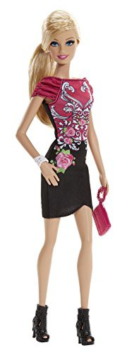 バービーFashionista Barbie Doll, Black and Pin...