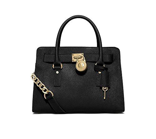 e5a719964209 マイケルコースMICHAEL Michael Kors Women's Hamilton Large East/West Satchel Black  Handbag