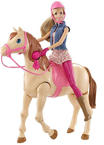 バービーが馬に飛び乗る!バービーサドルンライド...