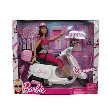 バービーBarbie Vespa Doll & Vehicle w Barbie D...