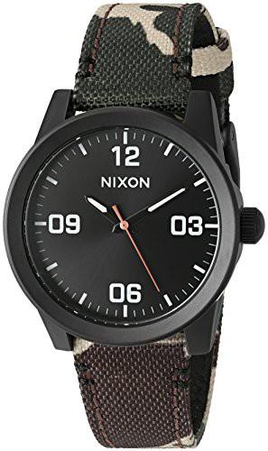 【当店1年保証】ニクソンNixon Womens G.I. Quartz Stainless Steel and Nylon Watch, Multi Color (