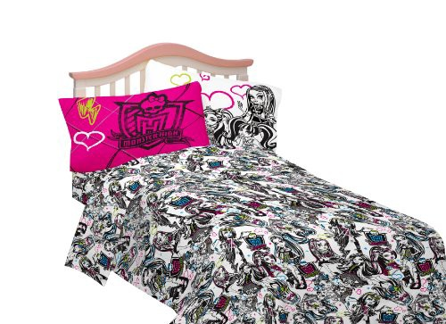 モンスターハイMattel Sheet Set, Twin, Monster ...