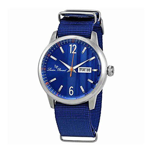 【当店1年保証】ルシアンピカールLucien Piccard Milanese Blue Dial Mens Watch 40027-03-BLNS