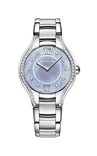 【当店1年保証】レイモンドウィルRaymond Weil Noemia Stainless Steel Blue Dial Diamond Womens W