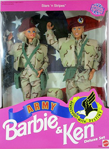 バービーStar 'N Stripes ARMY Barbie & Ken Delu...