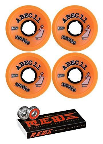 ウィール66mm ABEC 11 ZigZags Longboard Skatebo...
