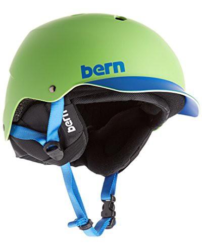 スノーボードBern Watts Hard Hat Helmet Neon Gr...