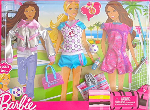 バービーBARBIE I Can Be FASHIONS w SOCCER SPOR...