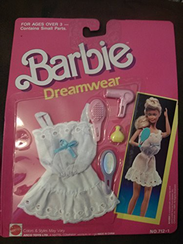 バービーBarbie Dreamwear 712-1 White With Blue...