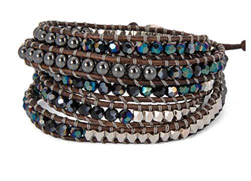 SPUNKYsoulSPUNKYsoul 5 Wrap Bracelets Blue Irr...