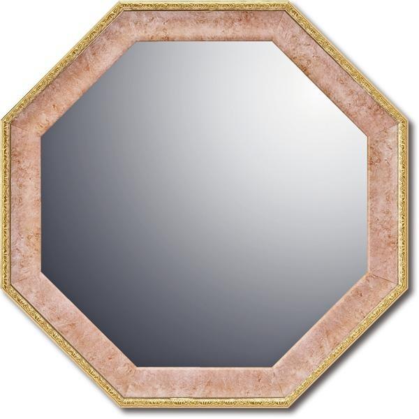 八角形 鏡 風水 ピンク 八角鏡 玄関用 八角ミラー...