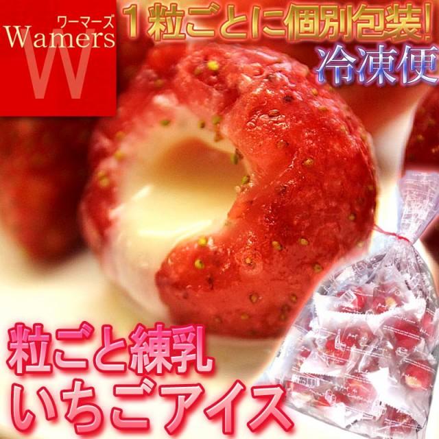 産地直送 いちご練乳ミルク 30粒入り 冷凍フルー...