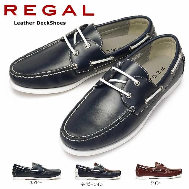リーガル 靴 72PR デッキシューズ レザー メンズ ...