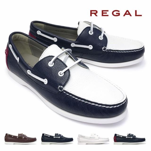 リーガル 靴 55TR デッキシューズ レザー メンズ ...