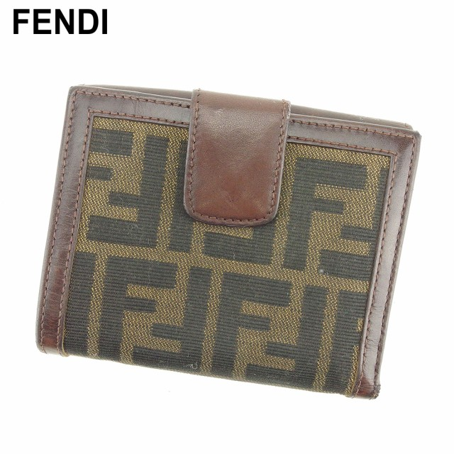 フェンディ FENDI Wホック 財布 二つ折り 財布 レ...
