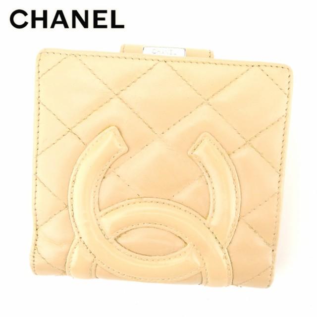 シャネル CHANEL がま口 財布 二つ折り 財布 レデ...