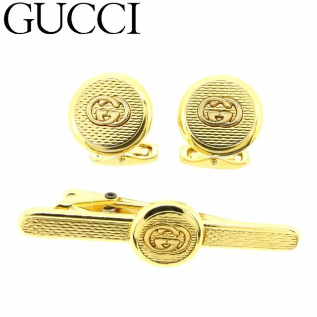 best service e6854 ea1a7 グッチ Gucci カフス タイピン メンズ インターロッキング ...