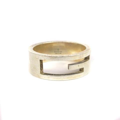 グッチ GUCCI Gリング 指輪 925 シルバー 19 アク...