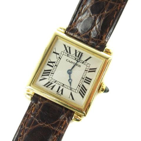 カルティエ Cartier タンク オビュ 18K 腕時計 ク...