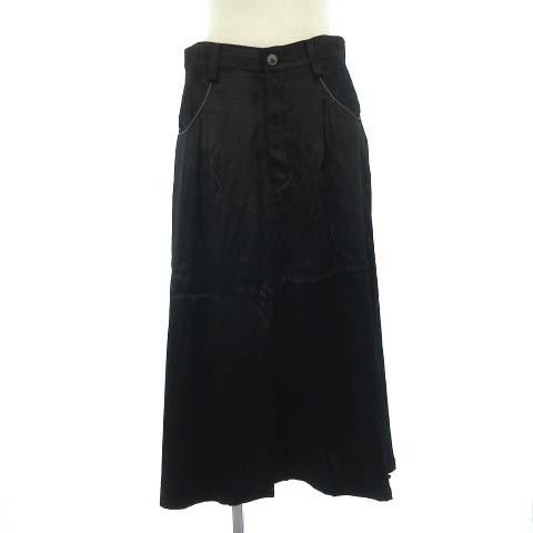 ワイズ Y's スカート ロング レーヨン 光沢 ドレ...
