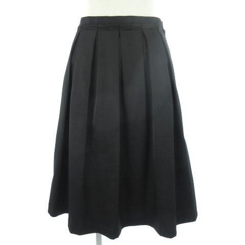 ケティ KETTY スカート ひざ丈 フレア タック 黒 ...