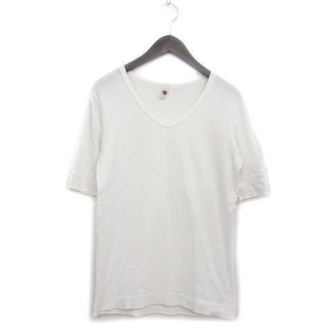LENOTCH Tシャツ カットソー 半袖 Vネック ワンポ...